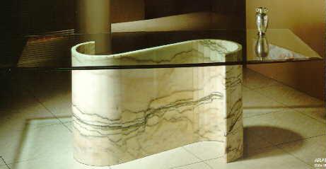 Productos elaborados en m rmol travertino blanco peruano - Mesa de marmol travertino ...